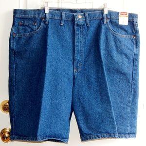 WRANGLER Relaxed Fit Dark Denim Shorts